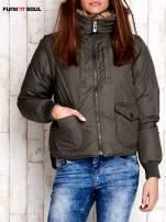 Oliwkowa kurtka z odpinanymi rękawami FUNK N SOUL                                  zdj.                                  1