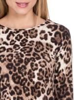 Panterkowy klasyczny sweterek