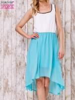 Pastelowozielona tiulowa sukienka z krzyżowanymi plecami                                  zdj.                                  1