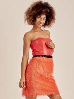 Pomarańczowa sukienka z frędzelkami                                   zdj.                                  2