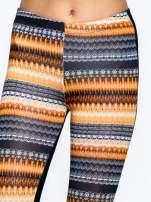 Pomarańczowe legginsy two tone w etniczny wzór                                                                          zdj.                                                                         5