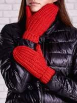 Pomarańczowe proste rękawiczki na jeden palec z grubej wełny                                                                          zdj.                                                                         2
