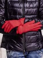 Pomarańczowe rękawiczki ze ściągaczem i podwójnym mankietem                                                                          zdj.                                                                         2