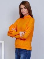 Pomarańczowy sweter z szerokimi rękawami                                  zdj.                                  3