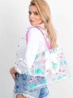 Przezroczysta torba damska we flamingi                                  zdj.                                  1