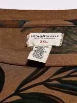 RALPH LAUREN Brązowy t-shirt męski z roślinnym nadrukiem                                  zdj.                                  4
