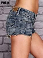 RALPH LAUREN Niebieskie szorty jeansowe trashed                                  zdj.                                  3