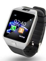 RONEBERG Smartwatch R09 Współpracuje z Android oraz iOS Powiadomienia Połączenia Krokomierz Monitor snu Czarno-srebrny                                  zdj.                                  3