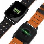 RONEBERG Smartwatch Smartband RA6 Pulsometr Ciśnieniomierz Oksymetr Powiadomienia Długi czas działania niebiesko-czarny                                  zdj.                                  2