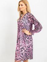 RUE PARIS Różowo-czarna sukienka Tiger                                  zdj.                                  5