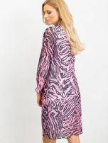 RUE PARIS Różowo-czarna sukienka Tiger                                  zdj.                                  2