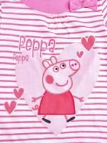 Różowa asymetryczna tunika dla dziewczynki ŚWINKA PEPPA                                  zdj.                                  4