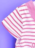 Różowa asymetryczna tunika dla dziewczynki ŚWINKA PEPPA                                  zdj.                                  6