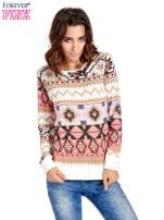 Różowa bluza w azteckie wzory                                                                          zdj.                                                                         1
