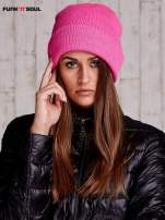 Różowa czapka beanie FUNK N SOUL                                  zdj.                                  1