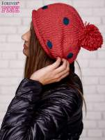 Różowa czapka w grochy                                  zdj.                                  2