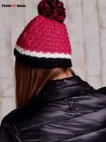 Różowa czapka z pomponem FUNK N SOUL                                  zdj.                                  3