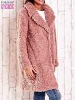 Różowa futrzana kurtka oversize                                  zdj.                                  4