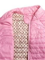 Różowa lekka kurtka puchowa