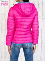 Różowa ocieplana kurtka z kieszeniami                                  zdj.                                  2
