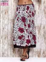 Różowa plisowana spódnica midi z brokatem