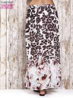 Różowa spódnica maxi we wzór panterkowokwiatowy                                  zdj.                                  3