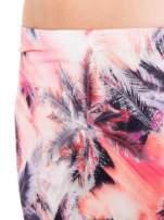 Różowa spódnica maxi z rozporkiem w egzotyczny nadruk palm                                  zdj.                                  5