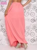 Różowa spódnica maxi ze złotym zapinannym paskiem                                                                          zdj.                                                                         4