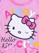 Różowa sukienka dla dziewczynki z kokardkami HELLO KITTY                                                                          zdj.                                                                         4