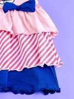Różowa sukienka dla dziewczynki z kolorowymi falbankami HELLO KITTY