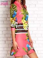 Różowa sukienka w kwiaty                                                                          zdj.                                                                         3