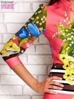 Różowa sukienka w kwiaty                                  zdj.                                  5