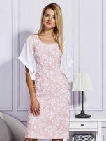 Różowa sukienka z luźnymi rękawami                                   zdj.                                  1