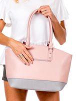 Różowa torba damska two tone                                  zdj.                                  3