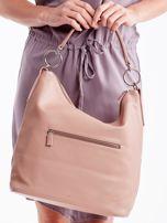 Różowa torba z łączonych materiałów                                  zdj.                                  4