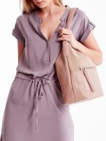 Różowa torba z łączonych materiałów                                  zdj.                                  1