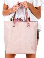 Różowa torba z nadrukiem                                   zdj.                                  4