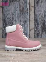 Różowe buty trekkingowe damskie traperki ocieplane                                  zdj.                                  1