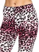 Różowe legginsy w panterkę                                  zdj.                                  5