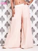 Różowe plisowane spodnie palazzo                                                                           zdj.                                                                         1