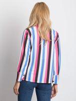 Różowo-biała koszula w paski                                  zdj.                                  2