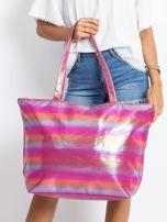 Różowo-pomarańczowa duża torba damska                                  zdj.                                  1