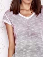 Różowo-szary t-shirt z efektem ombre