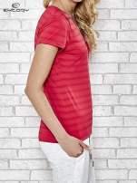 Różowy damski t-shirt sportowy PLUS SIZE