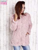 Beżowy futrzany sweter kurtka na suwak                                                                          zdj.                                                                         9