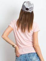 Różowy melanżowy t-shirt Square                                  zdj.                                  2