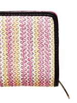 Różowy pleciony portfel w pionowe paski                                  zdj.                                  5