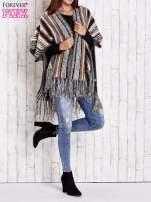 Różowy sweter poncho z frędzlami                                   zdj.                                  8