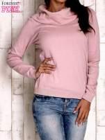 Różowy sweter z szerokim golfem                                                                          zdj.                                                                         1