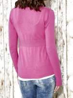 Różowy sweter zapinany na guziki Funk n Soul